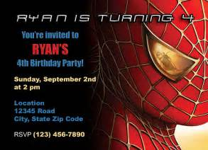 doc 1047800 free spiderman invitation cards spiderman