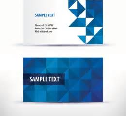 Simple Business Card Templates by Simple Pattern Business Card Template 04 Vector Free