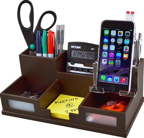 desk organizer for victor b9525 mocha brown desk organizer with smart phone