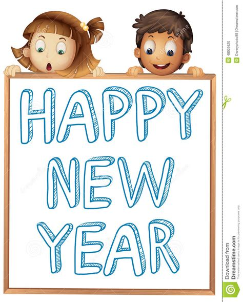 new year boy happy new year stock vector image 48025620