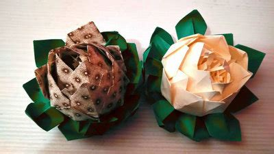 fiori di loro fiore di loro ninfea fiori di carta origami paper