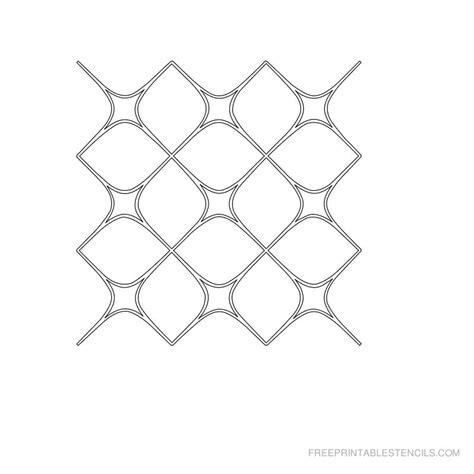 geometric pattern templates printable geometric stencils free printable stencils
