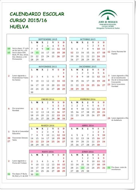 Calendario Escolar Andalucia 2015 16 Granada Recursos Educativos De Primaria Quot Calendario Escolar 2015