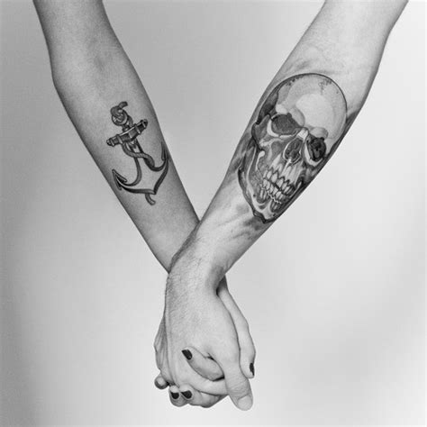 couple anchor tattoos drops of jupiter tuesday