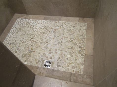 pebble shower floor pebble shower floor contemporary bathroom chicago