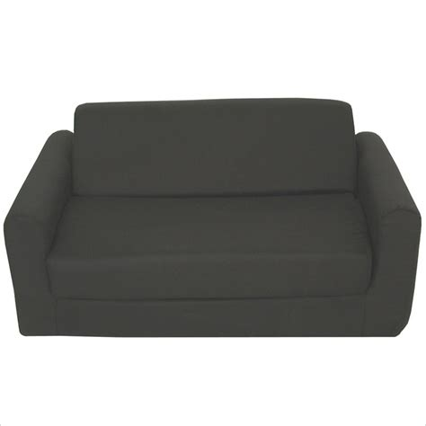 Foam Sleeper by Elite Products Elite Black Childrens Foam Sleeper Sofa