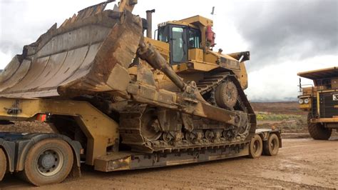 transporting  huge cat dr dozer youtube