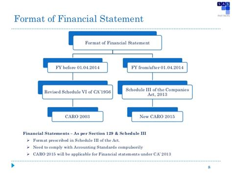 format of cash flow under companies act 2013 companies act 2013 aoc 4 presented to institute of