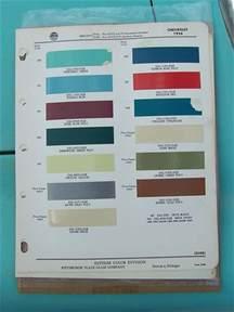 1956 Chevrolet Colors 1956 Chevrolet Paint Colors Flickr Photo