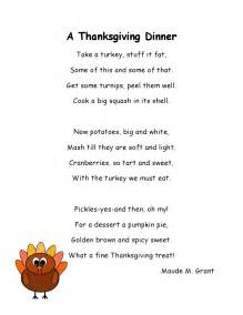 literacy minute turkey poems for thanksgiving