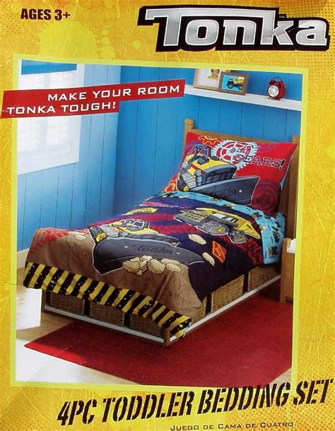 tonka toddler bed tonka tough trucks comforter sheets 4pc toddler bedding