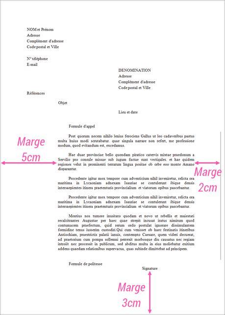 Exemple De Lettre Formelle En Arabe courrier administratif comment bien r 233 diger une lettre