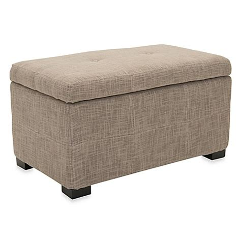 Small Storage Bench Buy Safavieh Small Maiden Storage Bench In Grey From Bed Bath Beyond