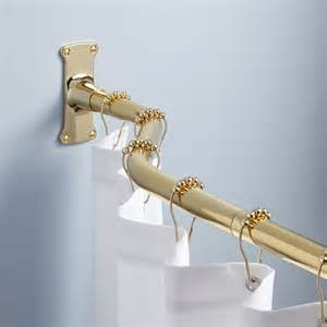 72 quot offset shower curtain rod polished brass ebay