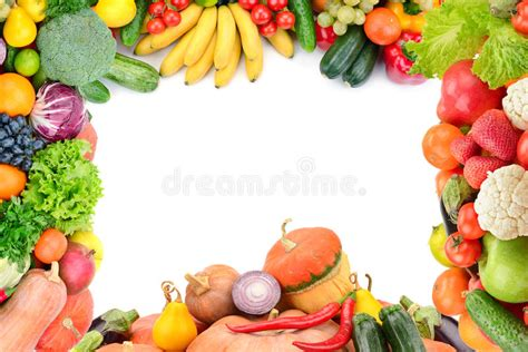 vegetables e fruits frame of vegetables and fruits stock photo image of