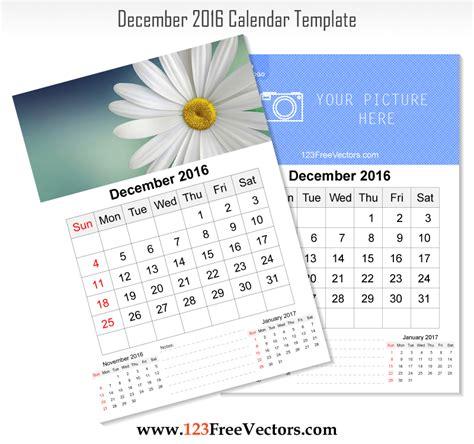 wall calendar design template wall calendar december 2016 free vector