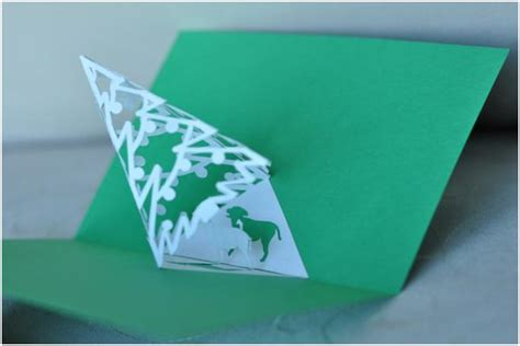 tree pop up card templates complex pyramid tree pop up card template