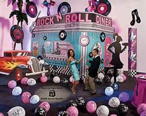 Grease Party Decorations Rock Around The Clock With A Rock The Night Away 1950 S