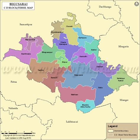 map of begusarai district begusarai tehsil map bolcks in begusarai