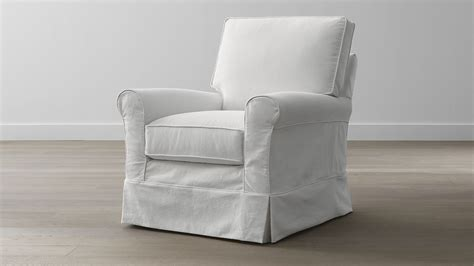 crate and barrel slipcover replacement slipcover only for harborside swivel glider snow crate