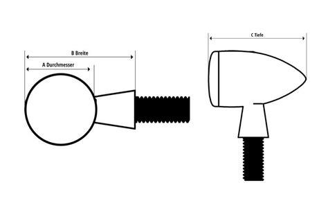 Motorrad Blinker Gewinde by Motorrad Led Blinker Apollo Bullet Mit M8 Gewinde