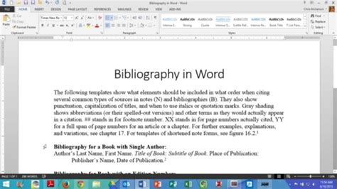 Creating A Bibliography by Creating A Bibliography In Word On Vimeo