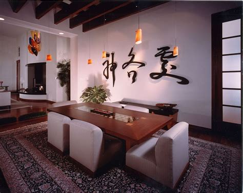 Contemporary Dining Room Lighting Serene And Practical 40 Asian Style Dining Rooms