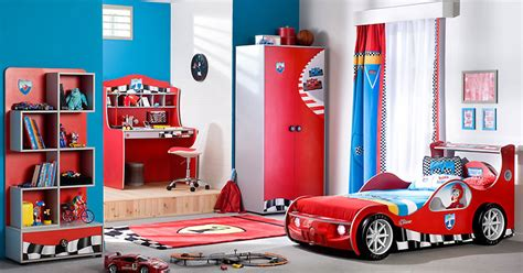 race car bedroom decor racing cars beds for boy bedroom