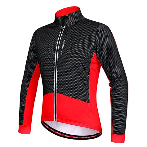 winter cycling jacket mens men s winter thermal fleece cycling jacket jersey long