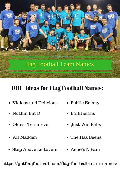 team themes names flag football team names good funny best of winter 2018
