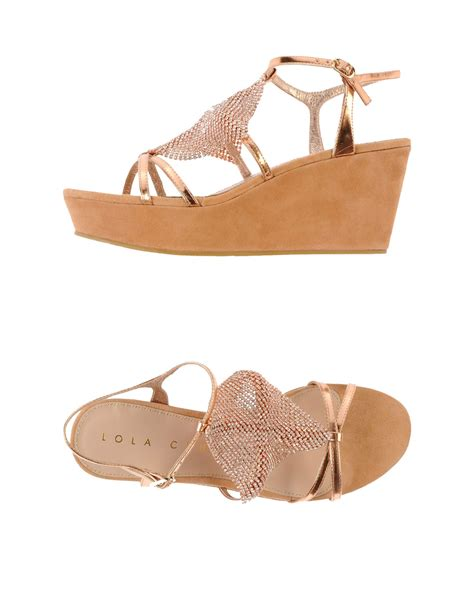 lola sandals lola sandals in pink lyst
