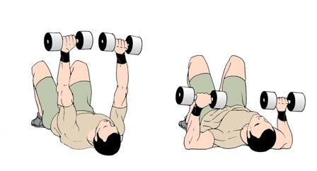 dumbbell bench press on the floor kettlebell dumbbell floor press exercise one arm