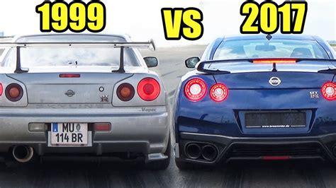 skyline nissan r35 nissan gtr 2017 vs nissan skyline gtr r34 tuga cars