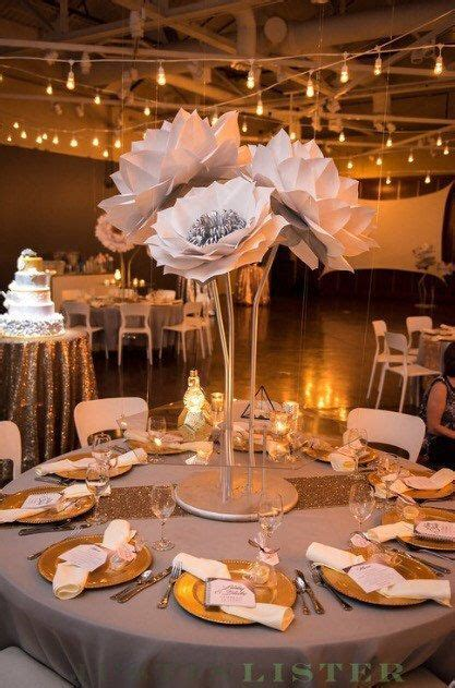 Paper flower centerpieces  36 inch inch paper flowers on