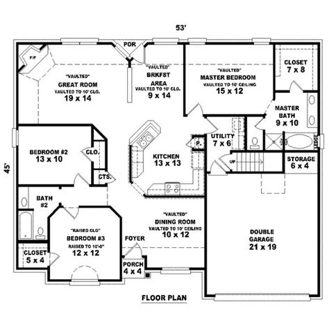 garage floor plans with bathroom 1725 square feet 2 bedrooms 2 batrooms 3 parking space