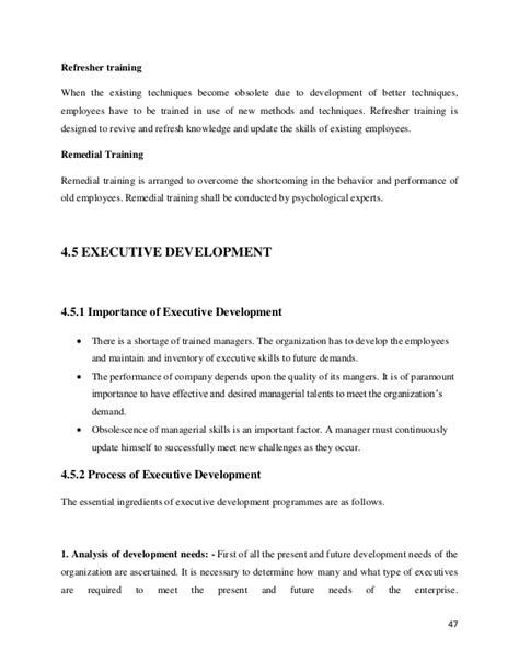 Mba Project On And Development by Mba Hr Project Report On And Development