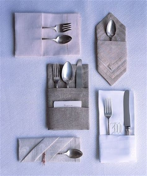 Fold Paper Napkins To Hold Silverware - napkin folding with silverware event planning ideas