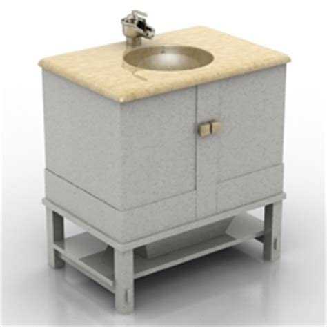 Kitchen Wash Basin Models 3d Sanitary Ware Wash Basin N020612 3d Model Gsm