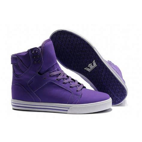 purple high top sneakers shoes purple high tops supra wheretoget