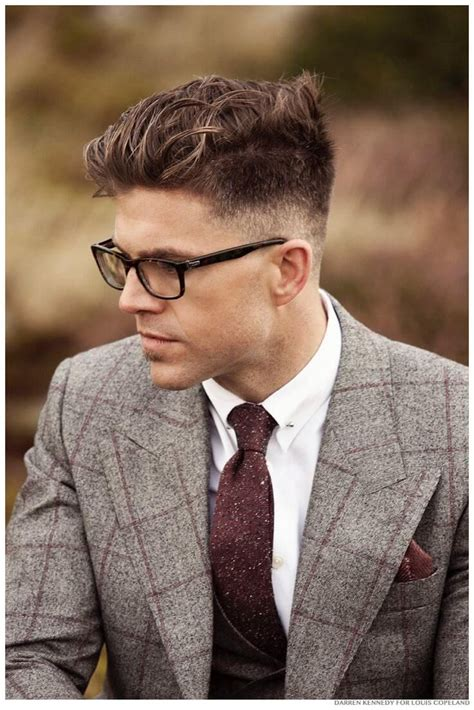 what hairstyle suits a 70 year with glasses 25 amazing mens fade hairstyles part 24 pictures of