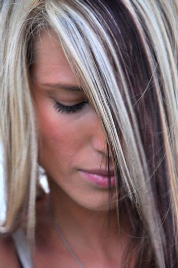 neckline hairstyles with highlights lowlights 125 best images about hairstyles with highlights on