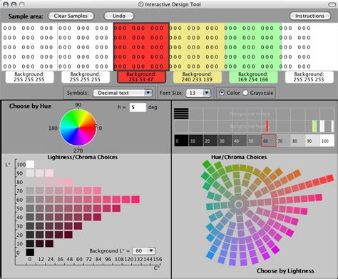 color tool exle display prototyping