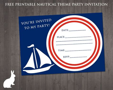 free printable birthday invitations nz free nautical party theme invitation ruby and the rabbit