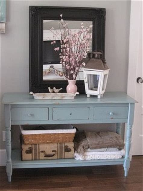 Entry Way Table Decor For On Duck Egg Blue Sloan And Duck