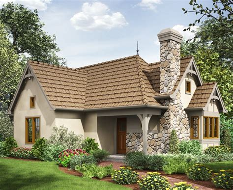 European Cottage Plans | 2 bed tiny cottage house plan 69593am 1st floor master