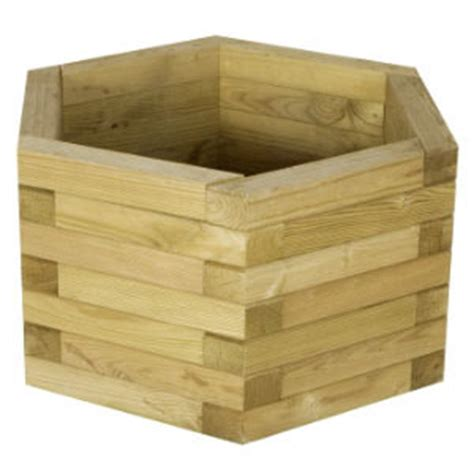Hexagonal Planter by Baltic Fence Wooden Products