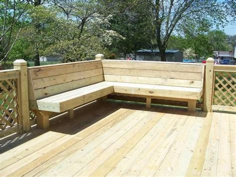 built in bench on deck back deck idea build in a bench decks pinterest