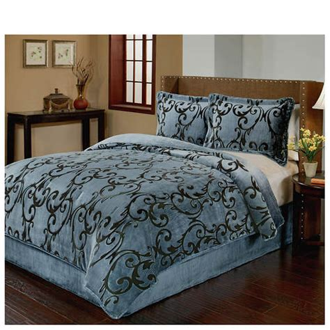 premium velvet microplush comforter set color out of