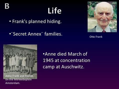anne frank biography ppt presentation anne frank final corrected