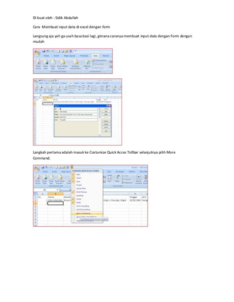 cara membuat form di excel 2010 membuat form basis data dengan microsoft access share